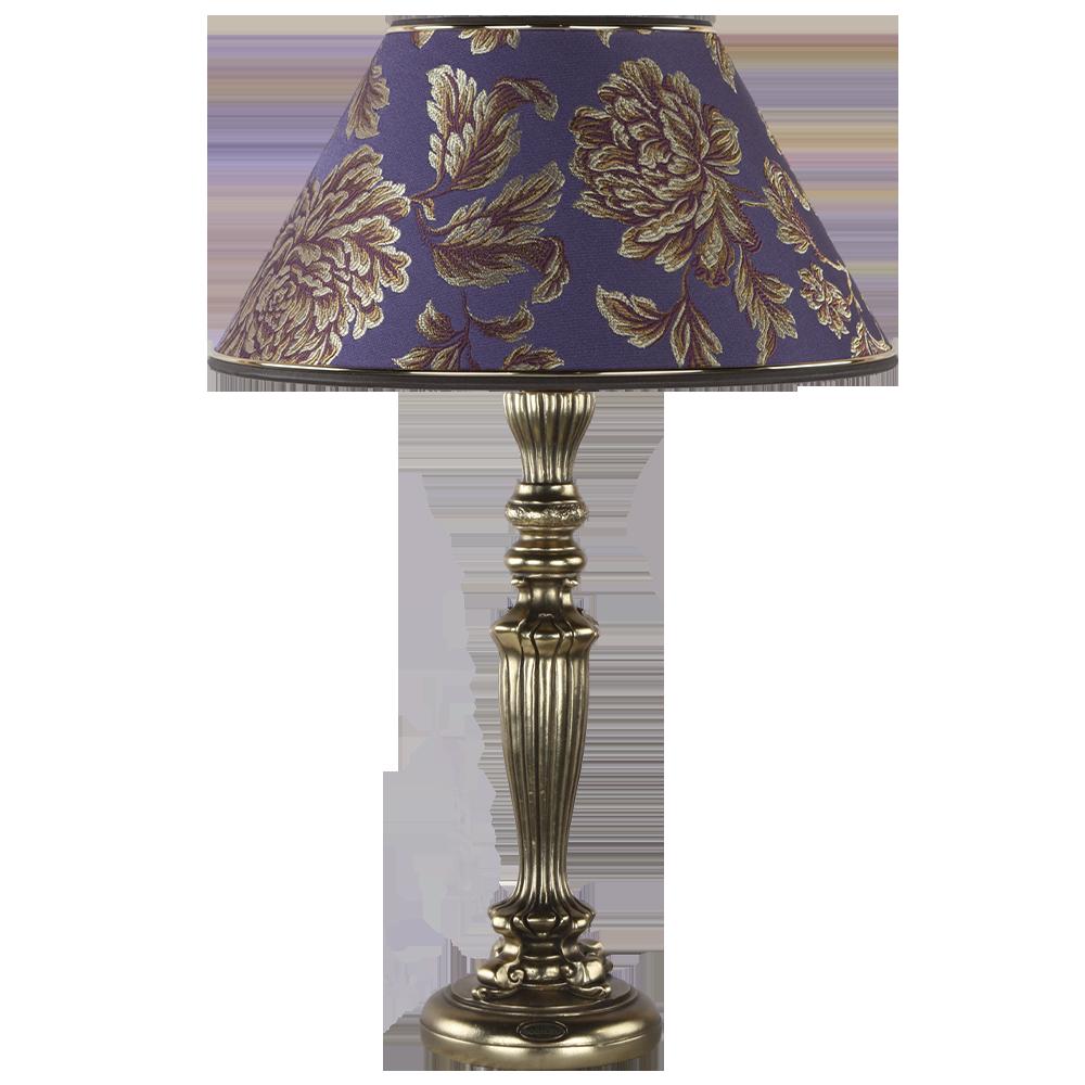 Настольная лампа Богемия Бронза Маргарита Фиолет