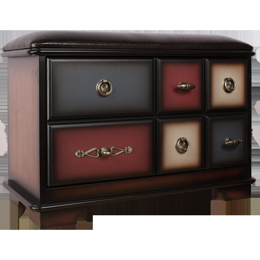 Банкетка Пандора 3 с ящиком Орех Mix