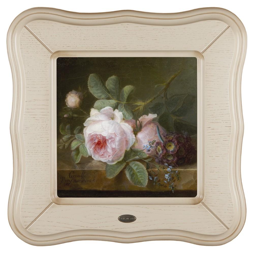 Картина Розы на каменной столешнице