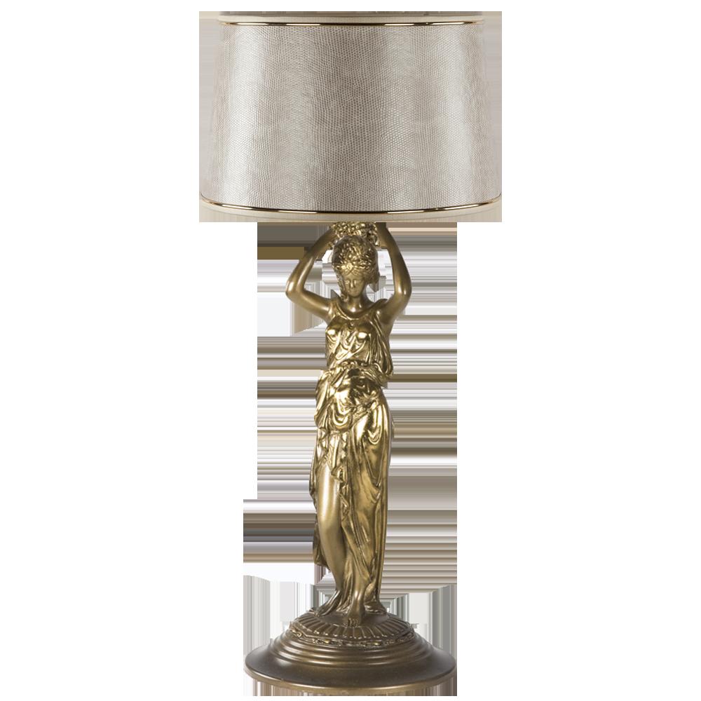 Настольная лампа Гречанка Тюссо Игуана Беж