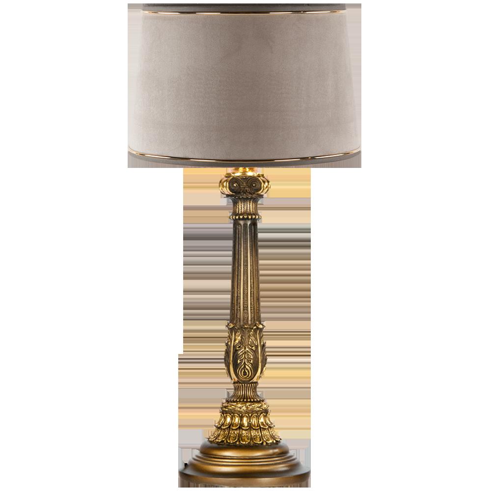 Настольная лампа Колонна Испанская Бронза Тюссо Капучино