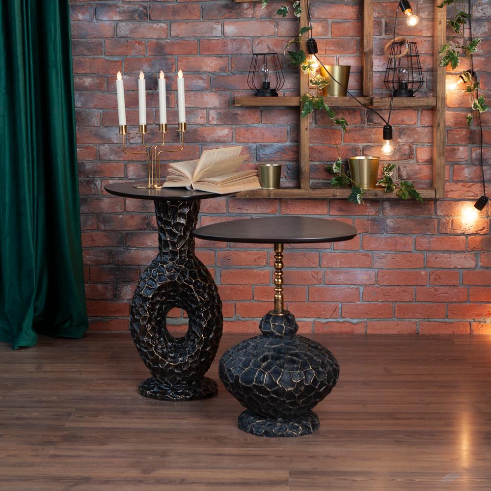 Декоративный столик Лидион Амбер Графит