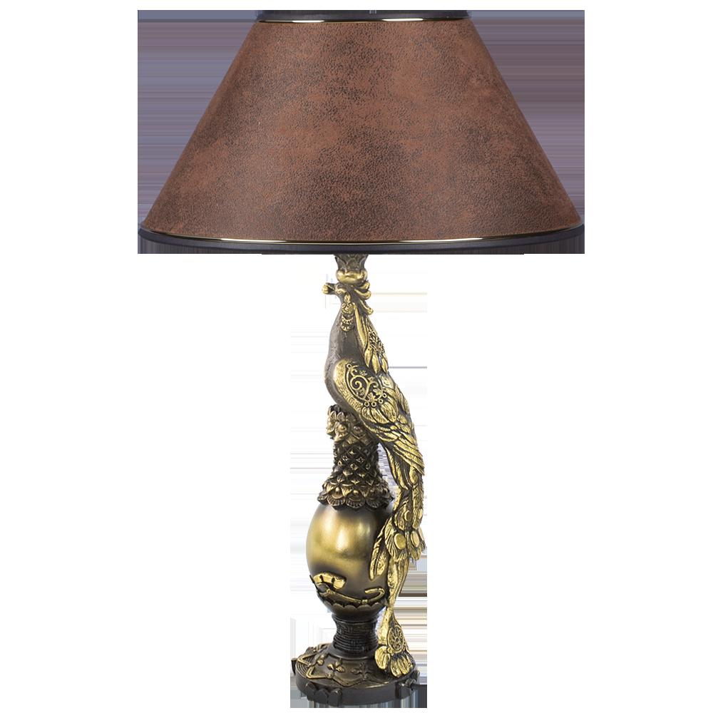 Настольная лампа Павлин Шоколад