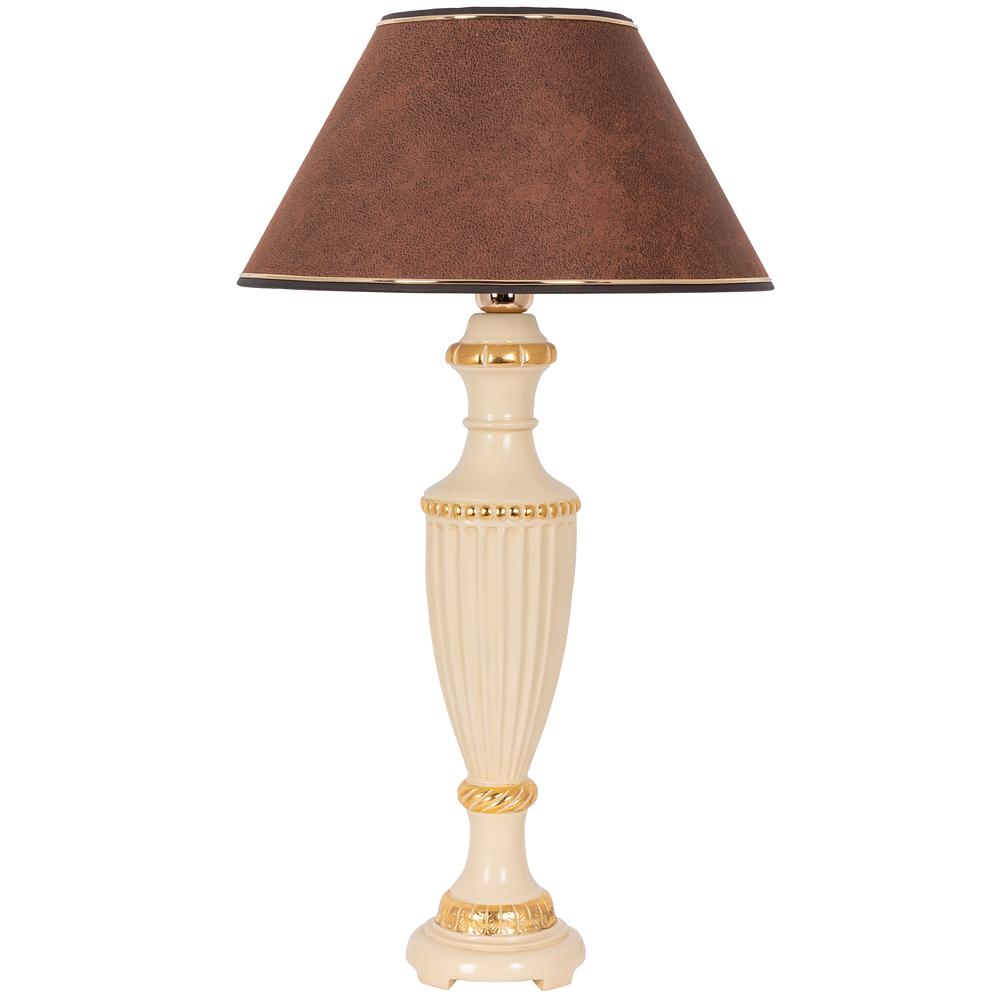 Настольная лампа Ваза Ребристая Айвори Шоколад