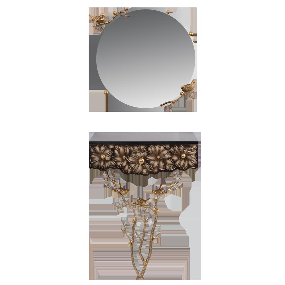 Консоль и зеркало Терра Каштан