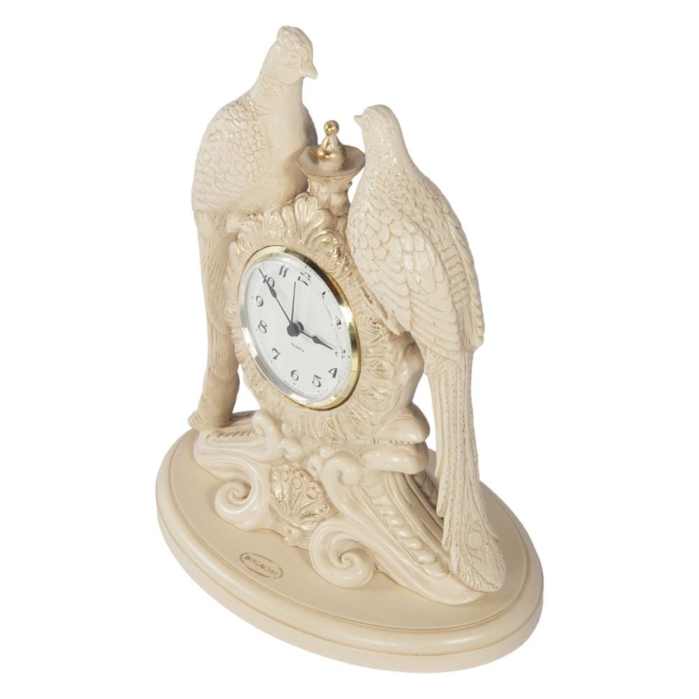 Часы настольные Павлины Айвори